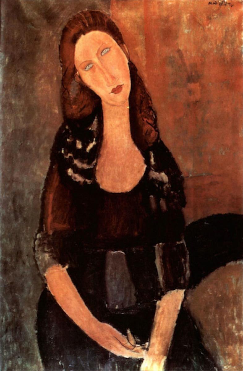 Ernest Mag Elkaim Modigliani Portrait Of Jeanne Hebuterne [3]