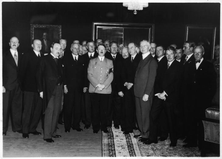 Adolf Hitler Plusieurs Principaux Industriels Allemands Comme Dessus 16 1937 0 729 523