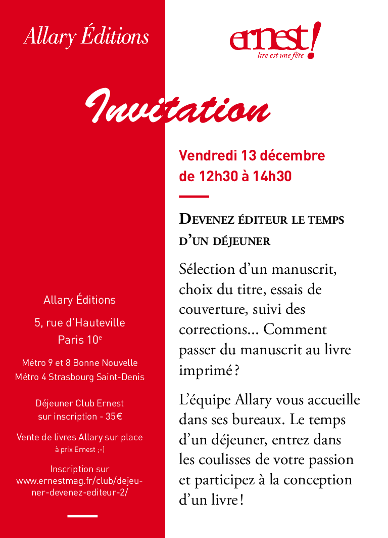 Invitation Déjeuner Ernest 2019