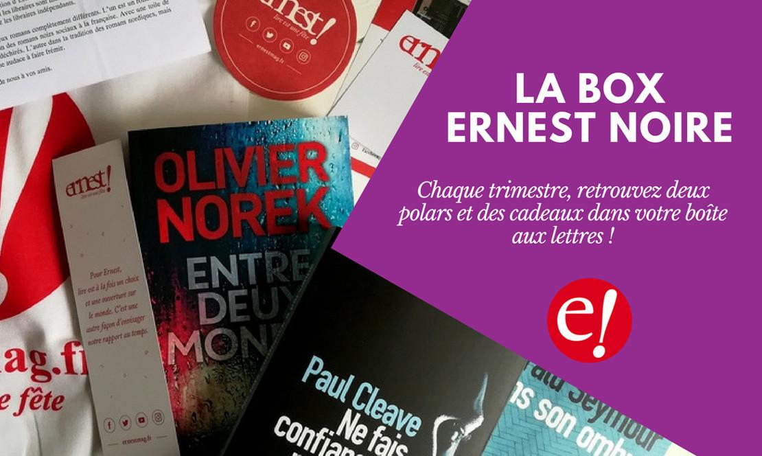 Box livres Ernest Noire