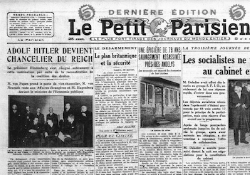 Ernest Mag Petit Parisien Une Hitler