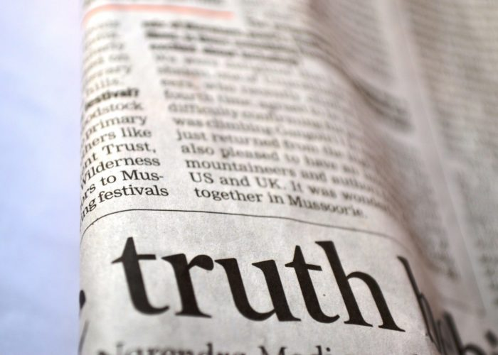 Truth Newspaper News Printed Text Message Page