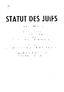Statut Des Juifs