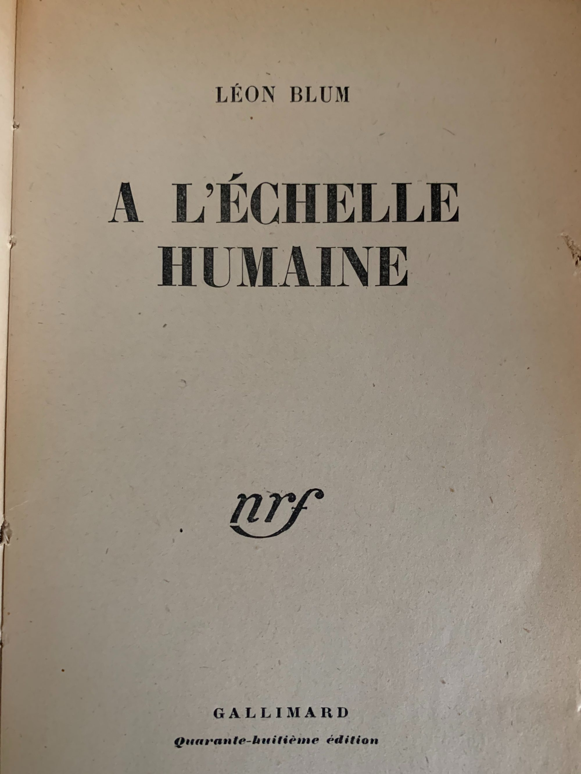 Ernest Mag Blum Echellehumaine
