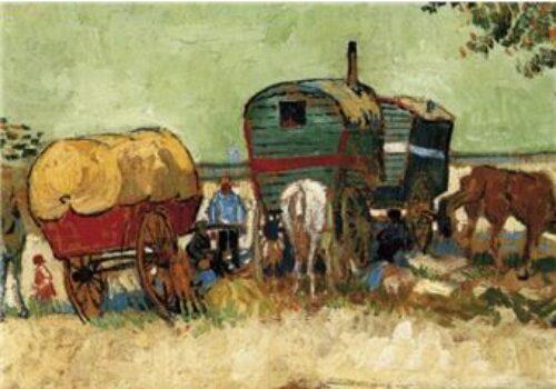 Vincent Van Gogh Poster Reproduction Les Roulottes Ou Campement De Bohemiens 1888 40x50 Cm
